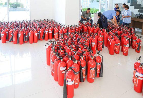 Nạp sạc bình chữa cháy số lượng lớn