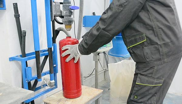 Quy trình nạp bình chữa cháy